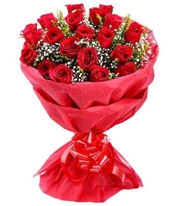 21 adet kırmızı gülden modern buket  Şanlıurfa çiçek servisi , çiçekçi adresleri