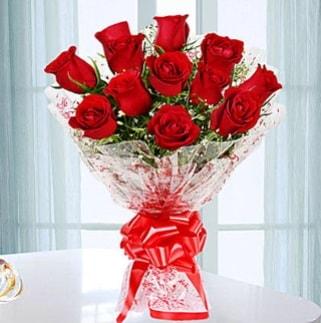 11 adet kırmızı gülden görsel şık buket  Şanlıurfa yurtiçi ve yurtdışı çiçek siparişi