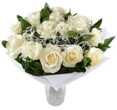 15 beyaz gül buketi sade aşk  Şanlıurfa kaliteli taze ve ucuz çiçekler