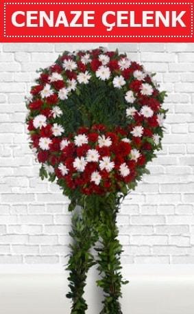 Kırmızı Beyaz Çelenk Cenaze çiçeği  Şanlıurfa anneler günü çiçek yolla