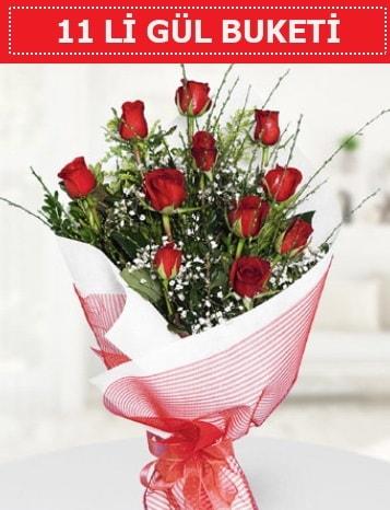 11 adet kırmızı gül buketi Aşk budur  Şanlıurfa hediye sevgilime hediye çiçek