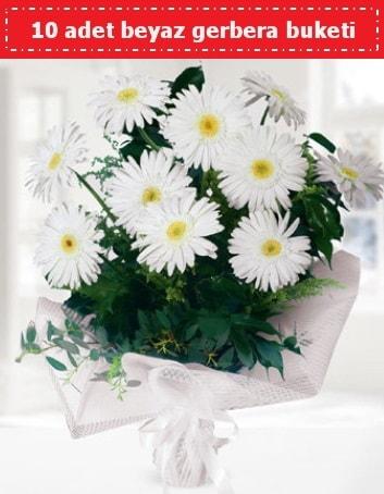 10 Adet beyaz gerbera buketi  Şanlıurfa güvenli kaliteli hızlı çiçek