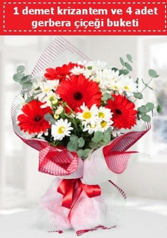 Krizantem ve Gerbera Buketi  Şanlıurfa İnternetten çiçek siparişi