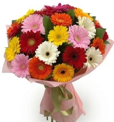Karışık büyük boy gerbera çiçek buketi  Şanlıurfa kaliteli taze ve ucuz çiçekler