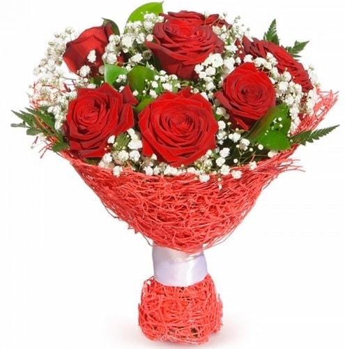 7 adet kırmızı gül buketi  Şanlıurfa çiçek yolla